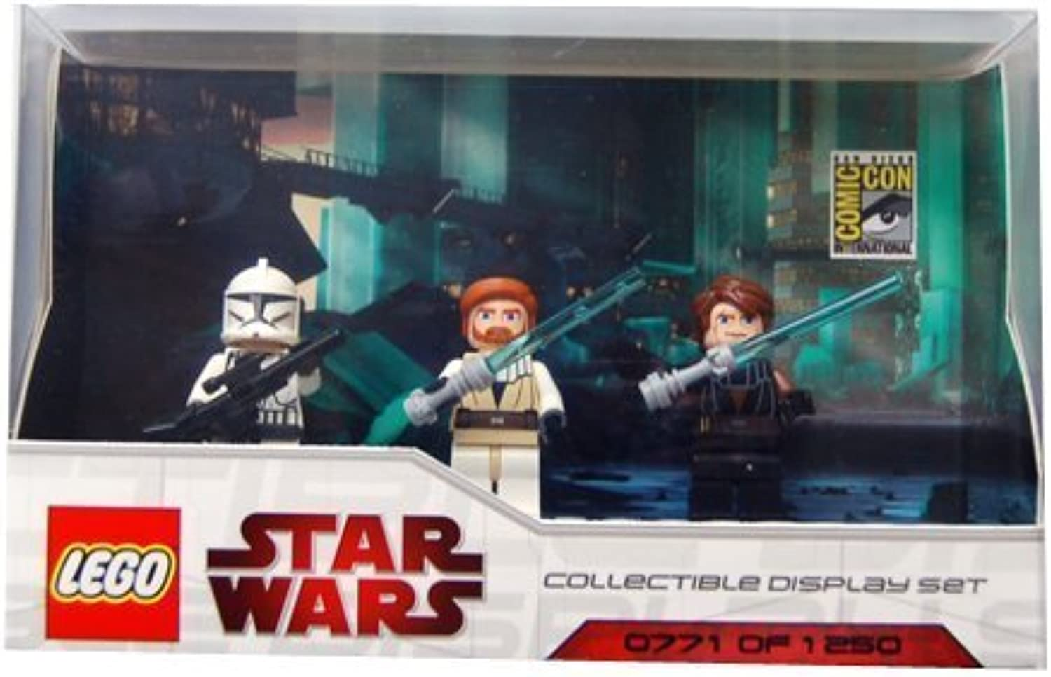 LEGO Star Wars Minifigures Set - 2009 Comic Con Exclusive (Includes Anakin, Obi-wan and Clone Trooper) by LEGO (English Manual)