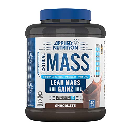 Applied Nutrition Critical Mass Professional Protein Powder, High Calorie Weight Gainer, Low Sugar, Informed Sport Tested, Lean Mass with Creatine, Glutamine, BCAA - 2.4kg (Chocolate)