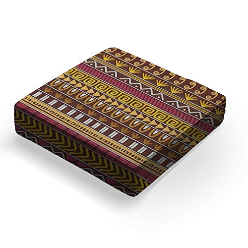 """Seamless vector tribal texture set Ethnic motifs group seamlessOutdoor Indoor Seat Cushion Patio Deep Seating Lounge Chair Conversation Cushion Large Size Replacement for Furniture - 25""""x25""""x5"""""""