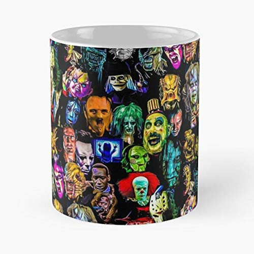 Film Baddie The Predator Legends Killers Alien Serial Horror Best Taza de café de cerámica de 315 ml con texto en inglés 'Eat Food Bite John Best Taza de café de cerámica de 315 ml