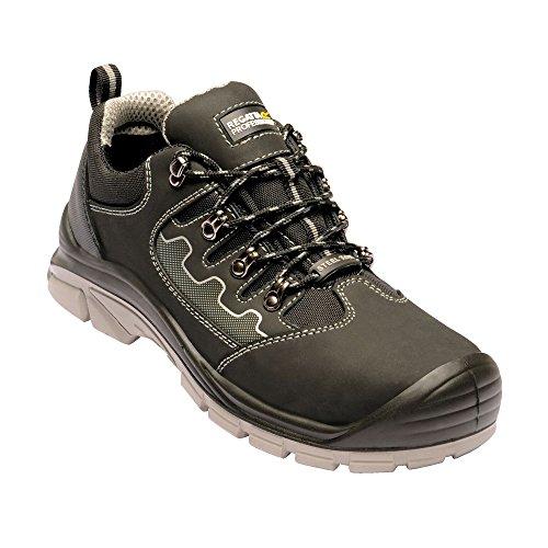 Regatta Hardwear - Botines de Trabajo de Seguridad en Piel Region S3 para Chico Hombre (43 EU) (Negro/Gris)