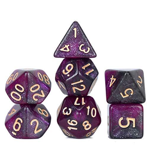 Grigio e Arancione DollaTek Dadi poliedrici Set Giochi da Tavolo Dadi 3 Set Dadi 3 x 7 Serie Die D20 D12 D10 D8 D6 D4 Dadi DND DND Rpg MTG Doppi Colori One Piece 21 Pezzi