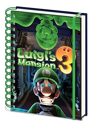 Luigi'S Mansion 3 - Cuaderno A5 Espiral Gooigi