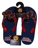 HotFlops New! Mississippi Old Miss Rebels NCAA Girl's Football Flip Flops Beach Sandal Shoes - Youth Sizes (Large (2-3)) (Medium (13-1))