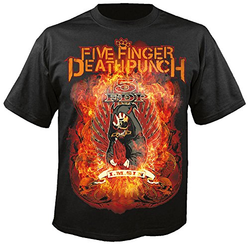 Five Finger Death Punch - Camiseta - Hombre-Mujer Negro negro