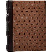 Bellagio-Italia Leather CD/DVD Storage Binder Chestnut