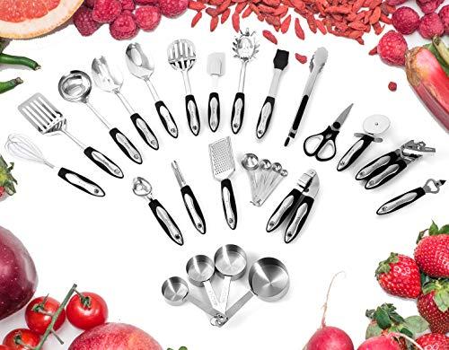 Utensilios Set–Vajilla de juego completo de cocina utensilios de cocina de acero...