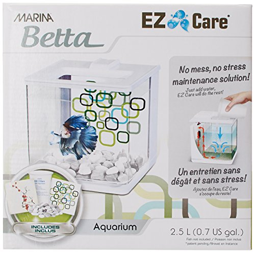 Marina Betta EZ Care Aquarium, Weiß