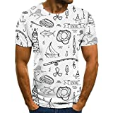 Camiseta De Manga Corta T-Shirt Nuevo Verano 3D Estampado De Peces Patrón Hombres Y Mujeres Camiseta Casual Tendencia De Moda Juventud Cool Hombres Camiseta Hip Hop Manga Corta-859_XXL