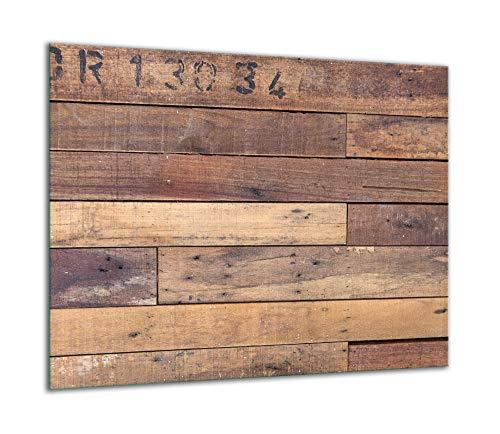 QTA   Herdabdeckplatte 60x52 Einteilig Glas Elektroherd Induktion Herdschutz Spritzschutz Glasplatte Schneidebrett Holz