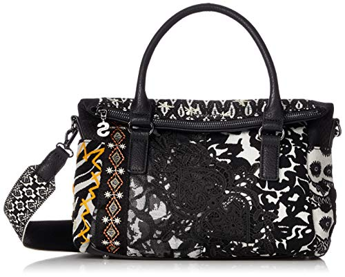 Desigual Fantasy Loverty Handtasche 30 cm, Negro, one size