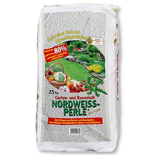 Nordweiss-Perle® 25 kg Gartenkalk Rasenkalk Bodenaktivator Staubfrei Kohlensauer