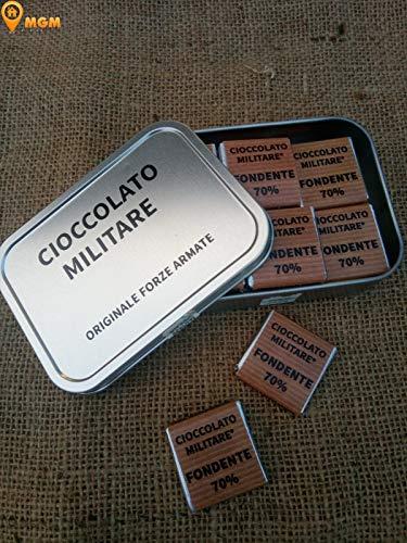 Cioccolato Militare - Confezione da 24 Cioccolatini Napolitain - Fondente 70% - Originale Forze Armate