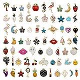 30pcs Mixed Enamel Charms Pendants for Jewelry Making Bulk lot Necklace Earrings Bracelet Craft Findings
