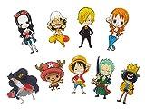 CoolChange 9 aimants avec Les Personnages Chibi de One Piece de l'équipage Chapeaux...