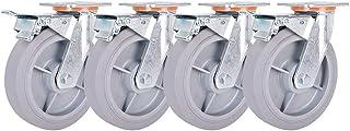 4-delig universeel wiel, heavy duty TPR silent rubber wiel, gebruikt voor trolley/werkbank/steiger, duurzaam en geruisloos
