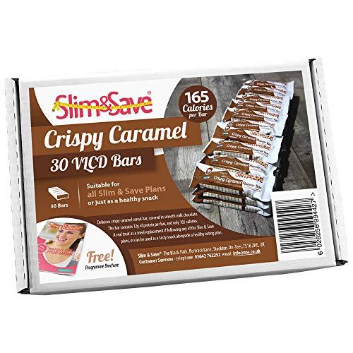 30 Slim & Save Crispy Caramel Diet Meal Replacement Bars