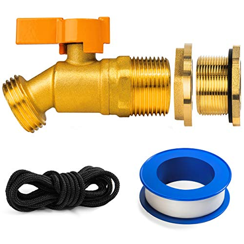 Renator P72-02330G Brass Spigot for Rain Barrel. Lead-Free Compliant