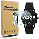 Suoman 3-Pack for Skagen Falster 3 Gen 5 Screen Protector, 2.5D 9H Hardness Tempered Glass for Skagen Gen 5 Falster 3 Smartwatch