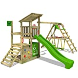 FATMOOSE Kletterturm FruityForest Fun XXL Klettergerüst Spielturm Beach-House mit Schaukel...
