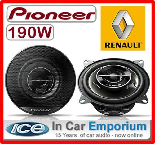 Pioneer Haut-parleurs arrière en kit pour Renault Clio 10 cm 200 W