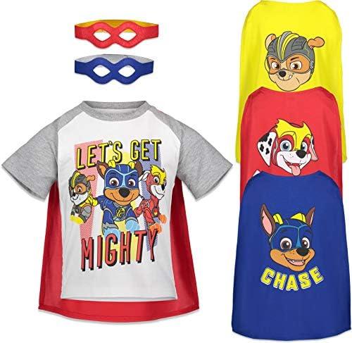 Nickelodeon Paw Patrol Toddler Boys Short Sleeve T Shirt Cape Mask Set 4T White product image