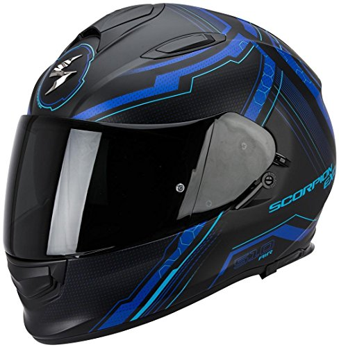 Preisvergleich Produktbild Scorpion Helm,  Matt Schwarz / Blau,  XXL