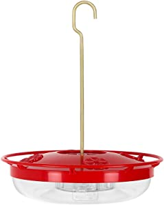 Hummingbird Feeder, 12 Ounces Capacity Hanging Feeder with 4 Feeding Stations for Outdoors