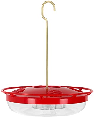 Tousight Hummingbird Feeder, 12 Ounces Capacity Hanging Feeder with 4 Feeding Stations for Outdoors
