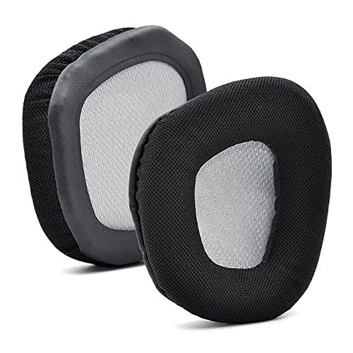 Almohadillas de repuesto compatibles con Corsair Void y Corsair Void Pro RGB, inalámbricas, con cable, durabilidad mejorada y aislamiento acústico (negro)