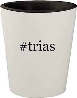 #trias - White Outer & Black Inner Hashtag Ceramic 1.5oz Shot Glass