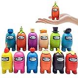 LMYKH Among Us Conjunto de Figuras, 12pcs Mini Cute Game Figuras Colección Juguetes Muñecas extraíbles Adornos Regalos para fanáticos de los Juegos