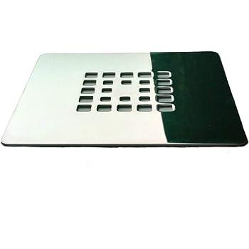 Rejilla cuadrada de 13,2 X 13,2 cm en acero inoxidable para platos de ducha de resina,pizarra,mármol,piedra: Amazon.es: Bricolaje y herramientas