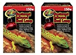 Zoo Med (2 Pack) Red Infrared Heat Lamp, 150 Watts