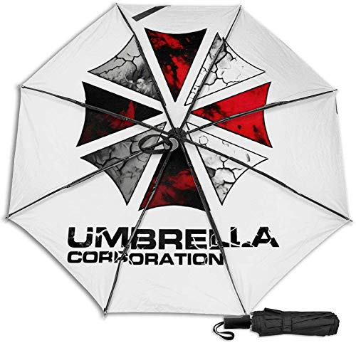 Resident Evil Umbrella Corporation Manueller dreifach faltbarer Regenschirm (schwarzer Kleber)