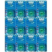 Oral-B - Hilo dental estatina (25 m, 12 unidades) por Oral-B Satin Tape Mint