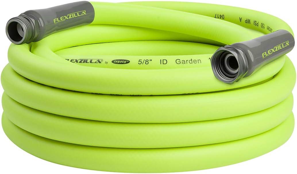 Flexzilla HFZG525YW Garden Lead-In Hose 5/8 In. x 25 ft, Heavy Duty, Lightweight, Drinking Water Safe