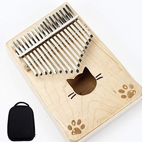 Kalimba Standard C-toets mini 17 sleutel Kalimba duim piano muziekinstrument leuke kat vormige tote bag geschikt for kinderen volwassen beginners 17-key Thumb Piano
