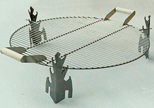 Svenska Grill-Aufsatz Grillrost aus Edelstahl D 63 cm Grillzubehör passend zu Schalen D 63 cm