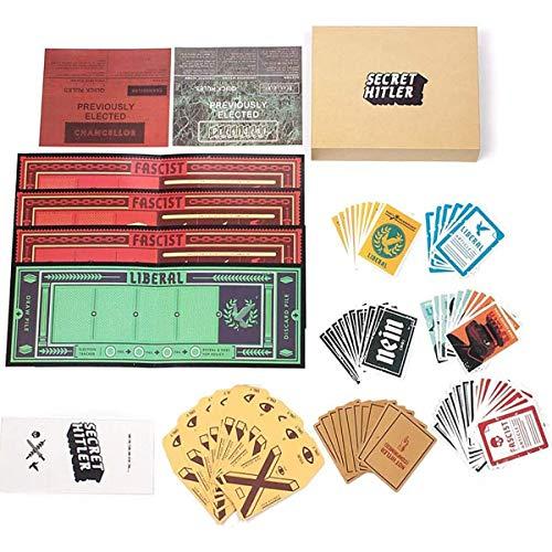 GXLO Brettspiel Secret Hitler Kartenspiel EIN verborgener Identity-Kartenspiele Für Family Party.