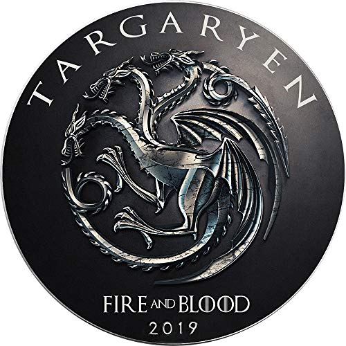 Power Coin Targaryen Feuer Game of Thrones GOT Walking Liberty 1 Oz Silber Münze 1$ USA 2019