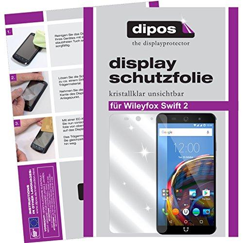 dipos I 2X Schutzfolie klar kompatibel mit Wileyfox Swift 2 Folie Bildschirmschutzfolie