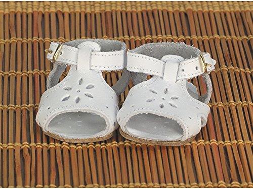 Marienkäfer Péz- Sandalen-Sandalen aus weißem Leder, Farbe Kleid aus eigenem Design (Handelsübliches Spielzeug Maripe sl 1)