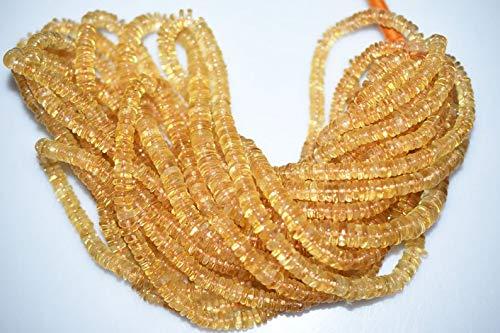 classement un comparer Perle précieuse pierre précieuse lisse – 16 pouces Hoop Jewellery Premium Citrine Pearl