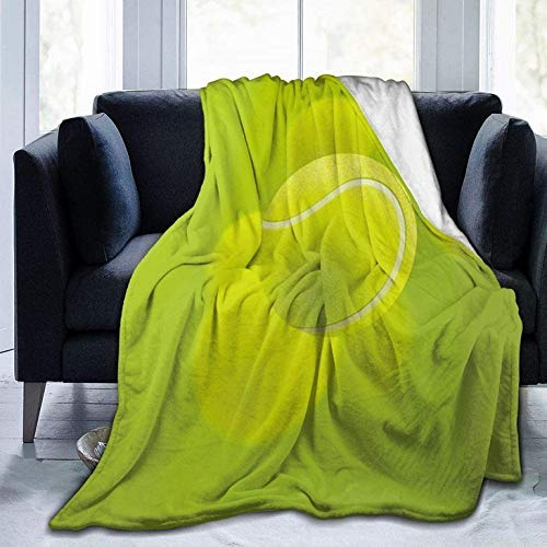 AEMAPE Manta de Lana Manta de Tiro de Pelota Verde de Tenis Manta cálida Manta Suave para sofá de Oficina en casa