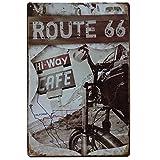 MARQUISE & LOREAN Ruta 66 Decoración Pared | Placa Decorativa...