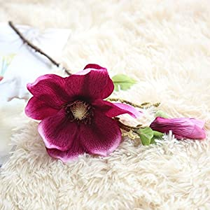 Artificial and Dried Flower Artificial Fake Magnolia Flowers Branch Mini Silk Orhcid Bridal Bouquet Floral Wedding Table Home Decor Artificial Flowers Pink