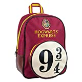 Groovy - Harry Potter Hogwarts Express - Mochila, con diseño 9 & 3/4, Color Rojo, tamaño Mediano