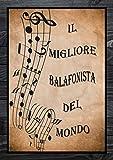 Il Migliore Balafonista del Mondo: Quaderno di Musica per Balafon   14 pentagrammi   110 Pagine   Grande Formato A4   Copertina vintage   Taccuino di Musica A4 con carta Manoscritta
