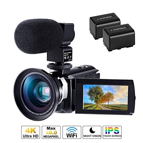 CofunKool WiFi 4K Videocamera Ultra Alta Definizione 48MP,...